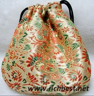 Drawstring Gift Brocade Bag